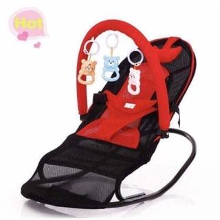 Ghế rung – ghế nhún cho bé cho giá treo đồ chơi Lẻ chỉ #280k 3 màu: đỏ, xanh lá.hồng Ghế rung kiểu mới có khung ghế rộng