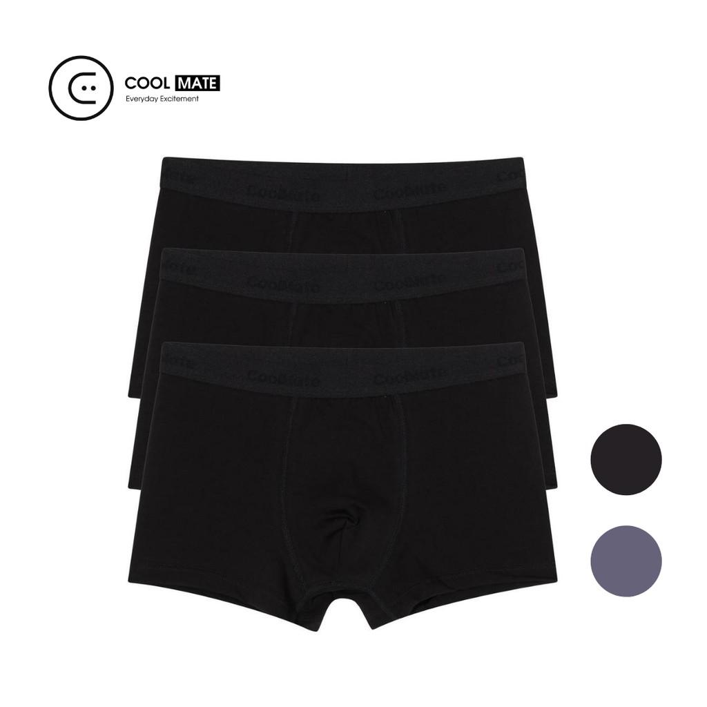 Combo 3 quần boxer vải sợi Modal (Gỗ sồi) kháng khuẩn Coolmate