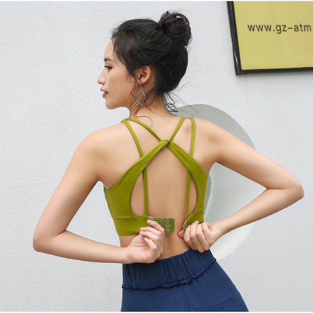 Beauty back fitness vest shock-proof running buckle bra Yoga