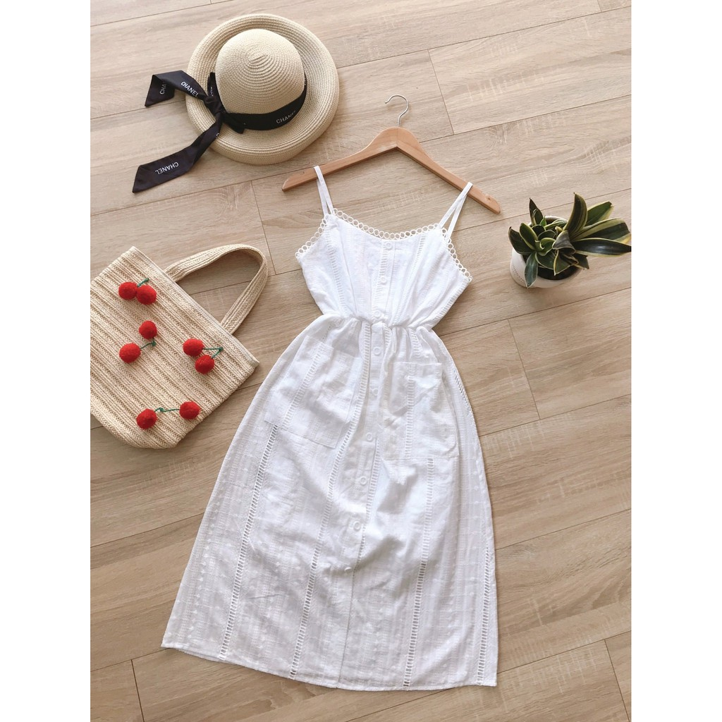 Đầm xô maxi bo eo