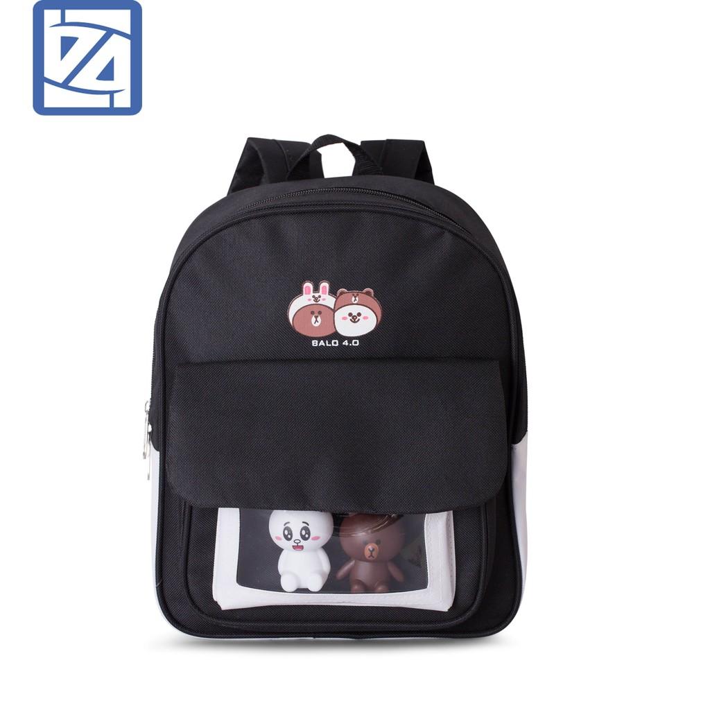 Balo mini nữ đi học, đi chơi đáng yêu hình gấu Ba