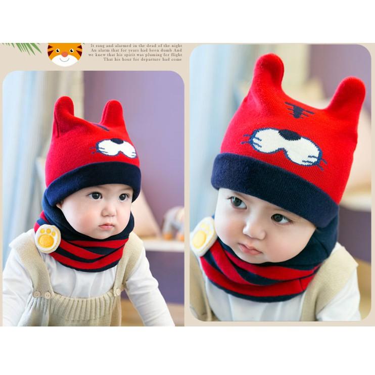 Combo khăn & mũ mèo -MS90