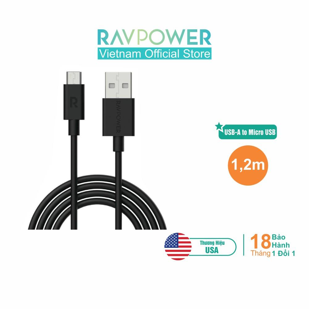 Dây Cáp Sạc RAVPower RP-CB043 USB-A to Micro USB - Hãng Phân Phối Chính T
