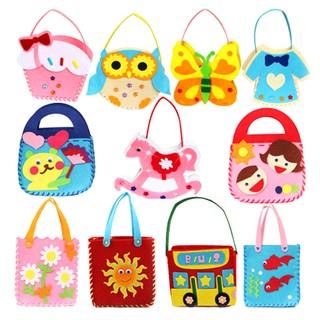 MUL❤ Handmade Handbags Cartoon Educational DIY Sewing Cloth Handcrafts To