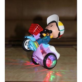 [CHO MẸ & BÉ] Đồ chơi Xe đạp xoay 360 độ có đèn nhạc phát sáng, siêu dễ thương