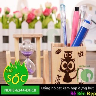 Đồng hồ cát kèm hộp đựng bút - NDHS-6244-DHCB