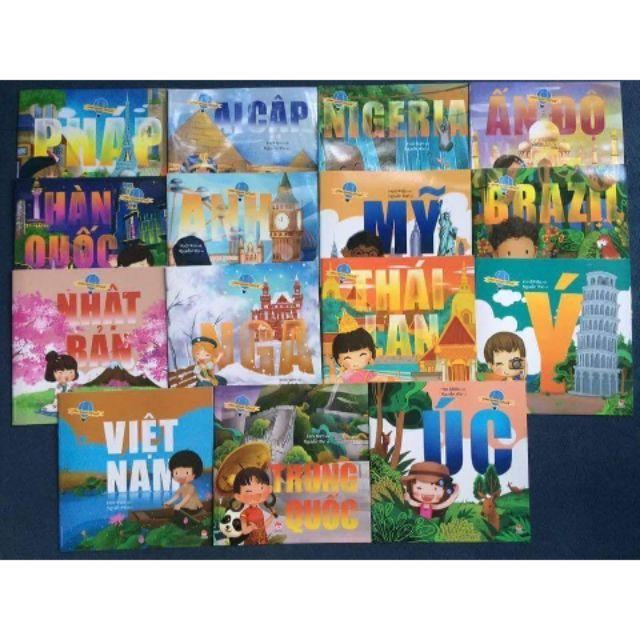 Bộ sách - Vòng quanh thế giới 15 quyển - NXB Kim Đồng