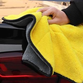 Khăn lau xe hơi màu vàng 2 lớp cao cấp siêu sạch siêu thấm hút SJV-014 5