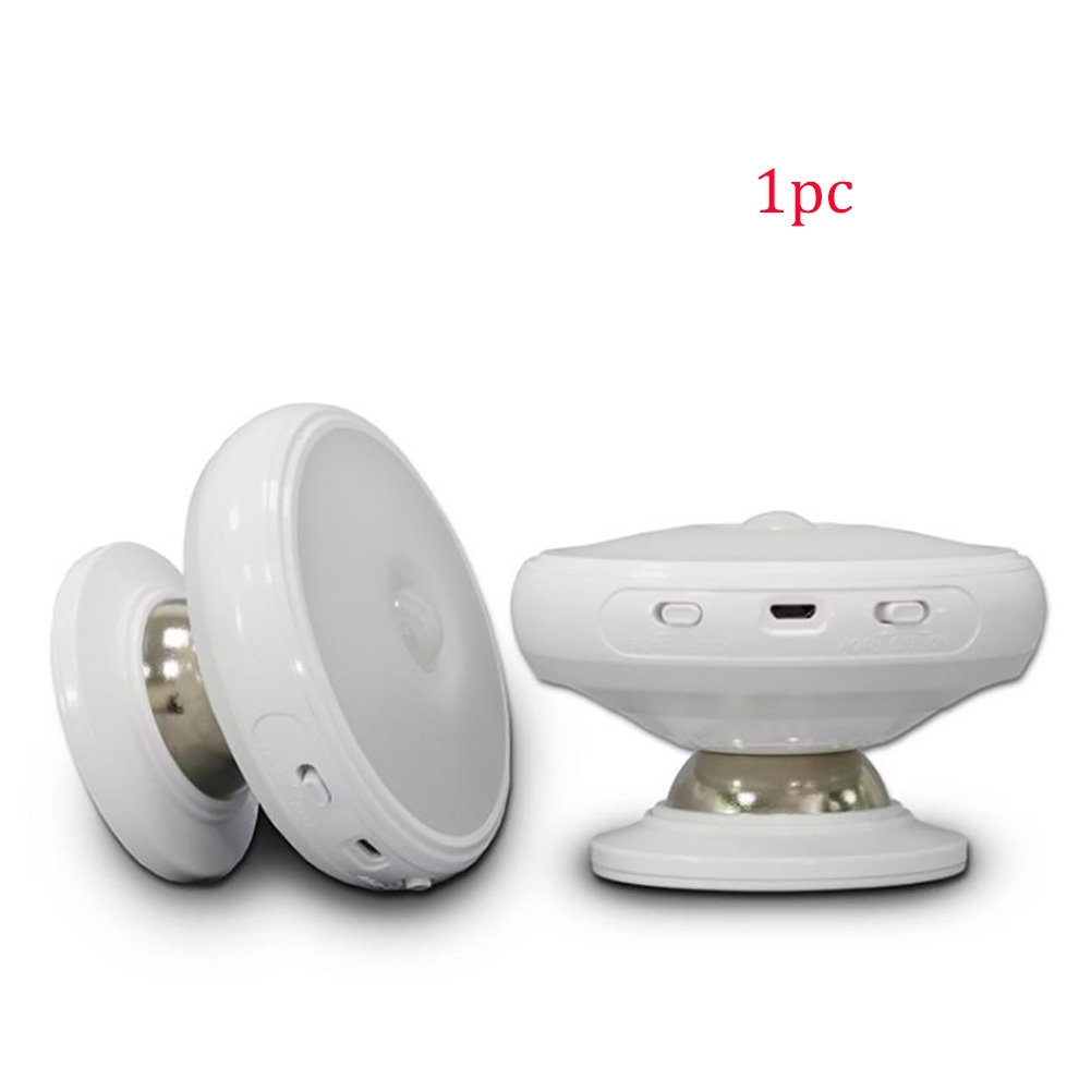 Wall Lamp Home Decor Indoor Security Kitchen Toilet Motion Sensor Stairs 360 Degree Rotatable Night Light LED Bulb Round