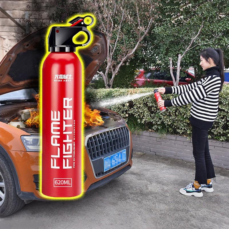 Bình chữa cháy Ô Tô MINI Dùng Cho Xe Hơi - Chung Cư - Hộ Gia Đình - Bếp Nấu Ăn An Toàn Tiện Dụng (dung tích 620ml)