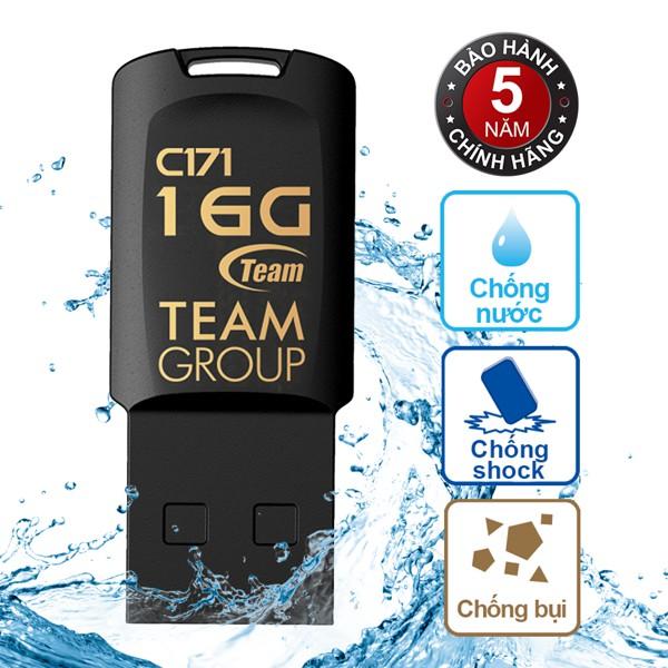 USB 16Gb Chống nước C171 TEAM (Đen)