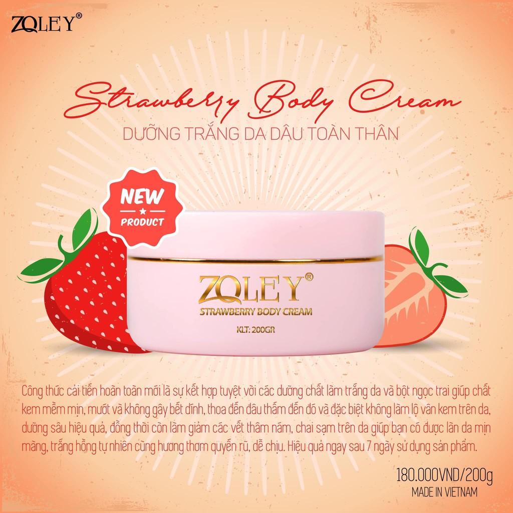Body Dâu Zoley 200g ' Strawberry Body Cream 200g'