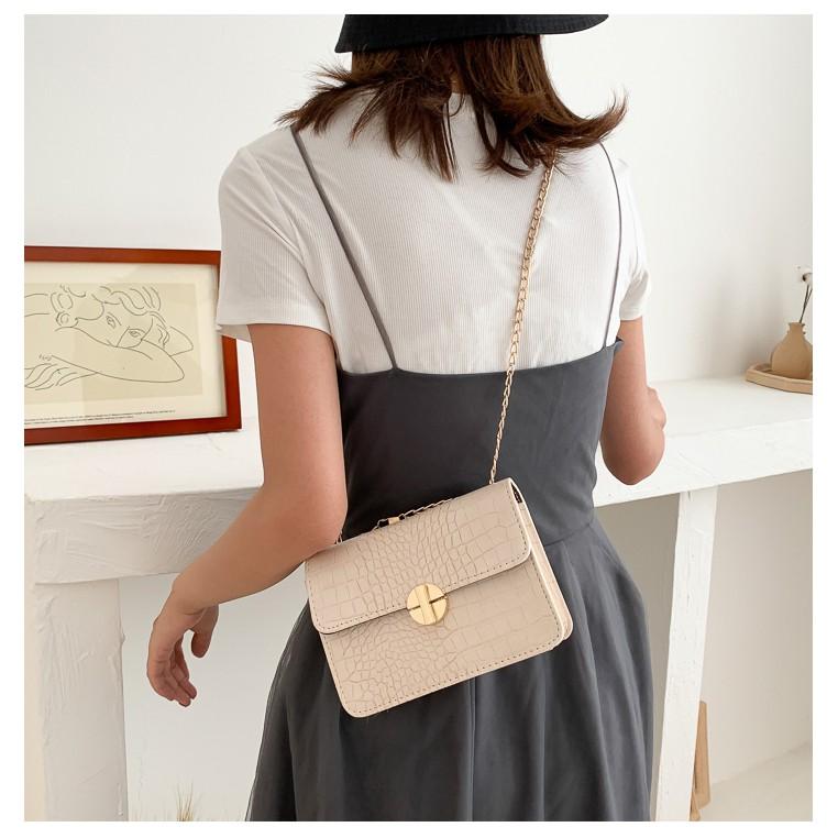 Túi đeo chéo nữ LOKADO túi nữ dây xích hàng hiệu HY128