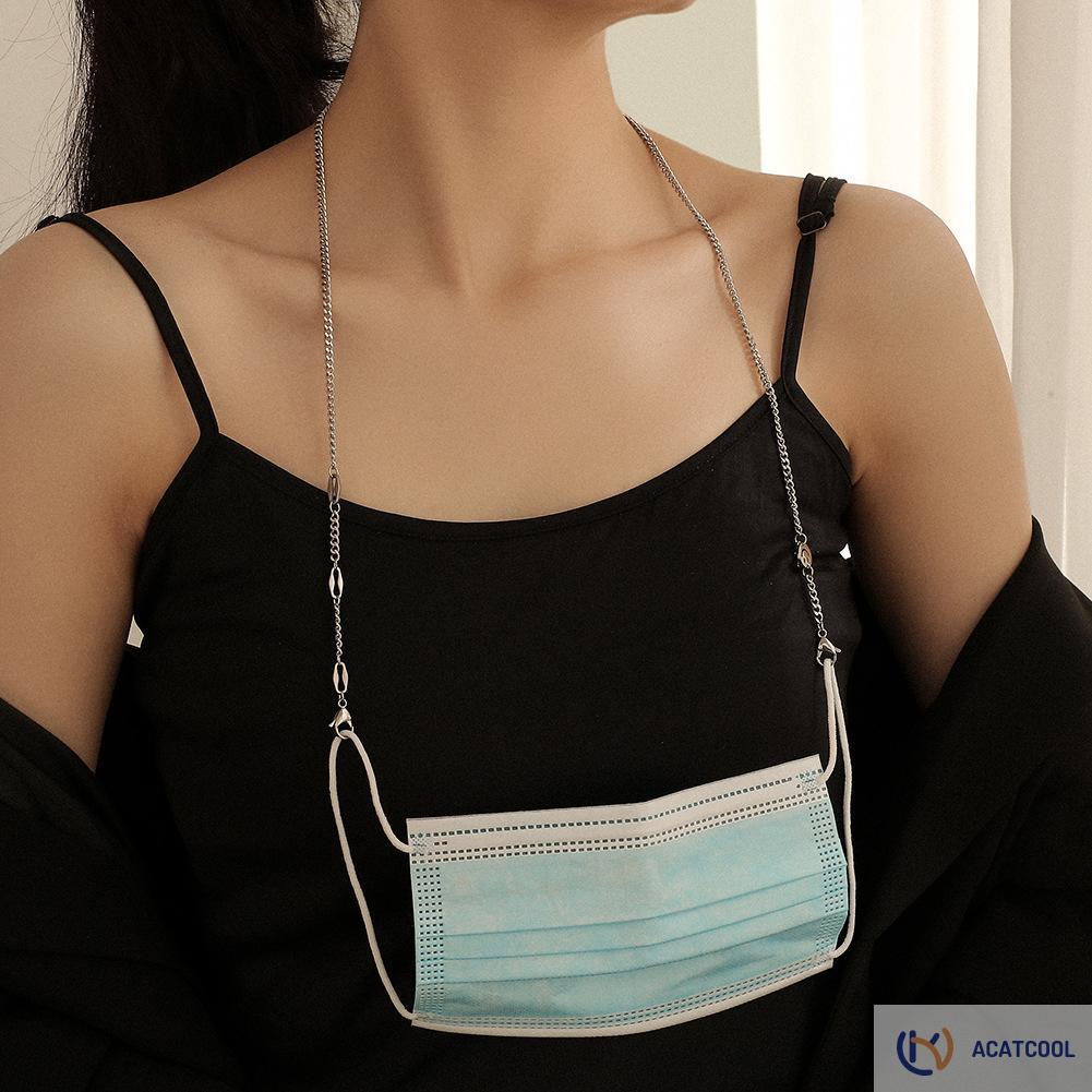 Acatcool Glasses Spectacles Slip Holder Strap Pentagram Star Smiling Face Mask Chain