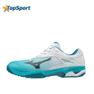 Giày tennis Mizuno WAVE EXCEED TOUR 3 61GA187035 thương hiệu Nhật Bản màu trắng phối xanh thumbnail