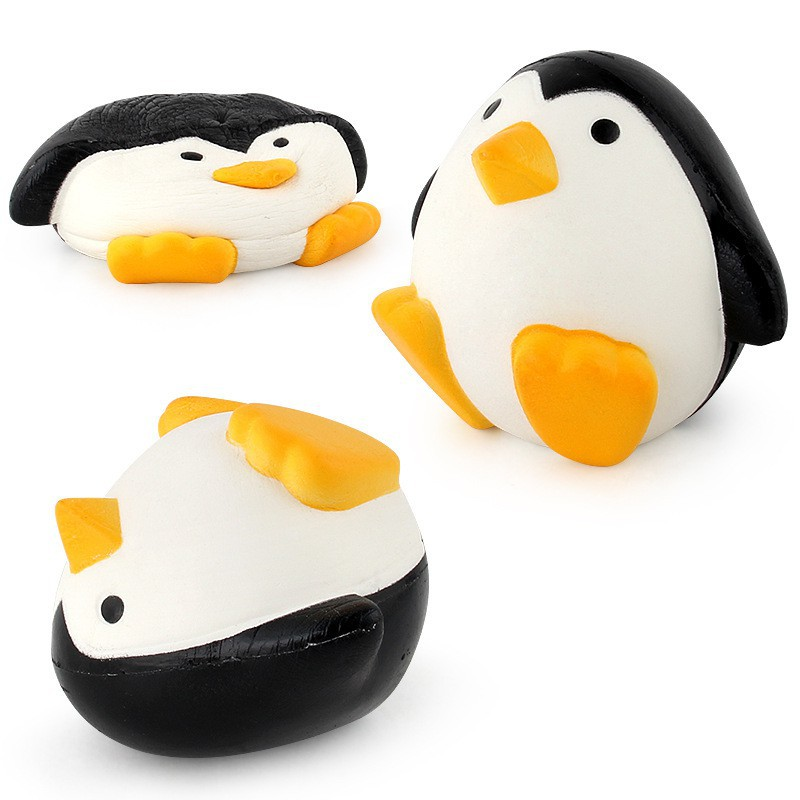 Cute PU Penguin Toy Slow Rising Squishy Early Education Squeeze Toys Gifts for Kids