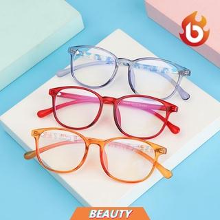 BEAUTY Fashion Comfortable Eyeglasses Portable Anti-blue Light Kids Glasses TR90 Online Classes Computer Children Boys Girls Eye Protection Ultra Light Frame/Multicolor