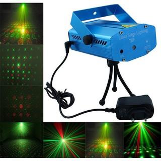 Đèn chiếu Mini Laser trang trí sân khấu/ vũ trường (Xanh dương nhạt)