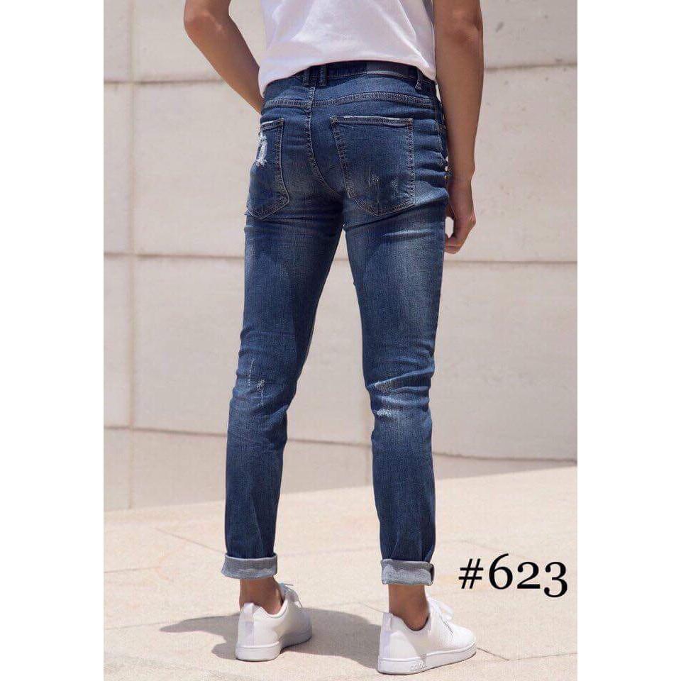 quần jean rách - quần jean nam phong cách