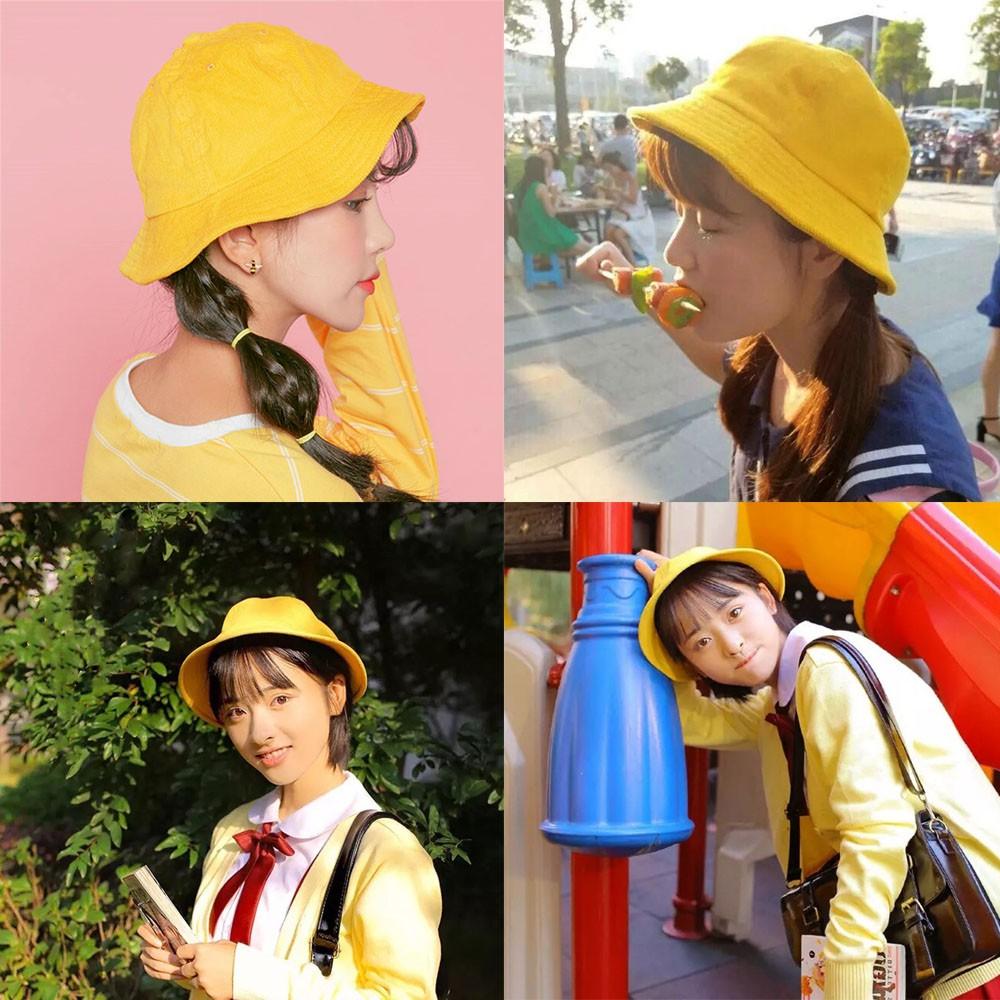 [Luôn Sẵn Hàng] Mũ Nón Maruko Rộng Vành Bucket Hat Ulzzang Kaki Nhung Siêu Cute ^^