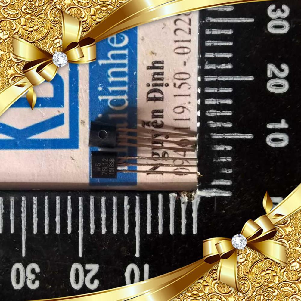 [CỰC ĐẸP] 78L12 TO-92 12V 100MA IC ổn áp nguồn (20 con) kde1507 CỰC ĐẸP.