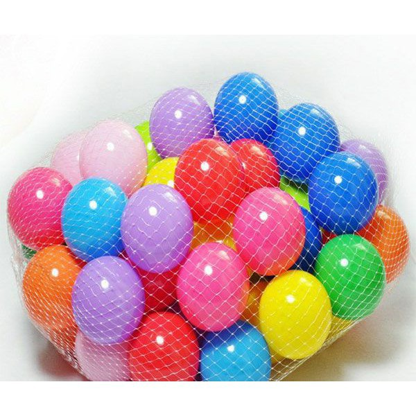 Sỉ. lẻ Combo 200 quả bóng nhựa size 7,5cm _ hàng nhập khẩu