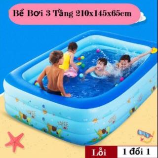 Bể bơi 2m1 3 tầng. Bể bơi phao 2m1. Bể bơi giá tốt nhất HCM.
