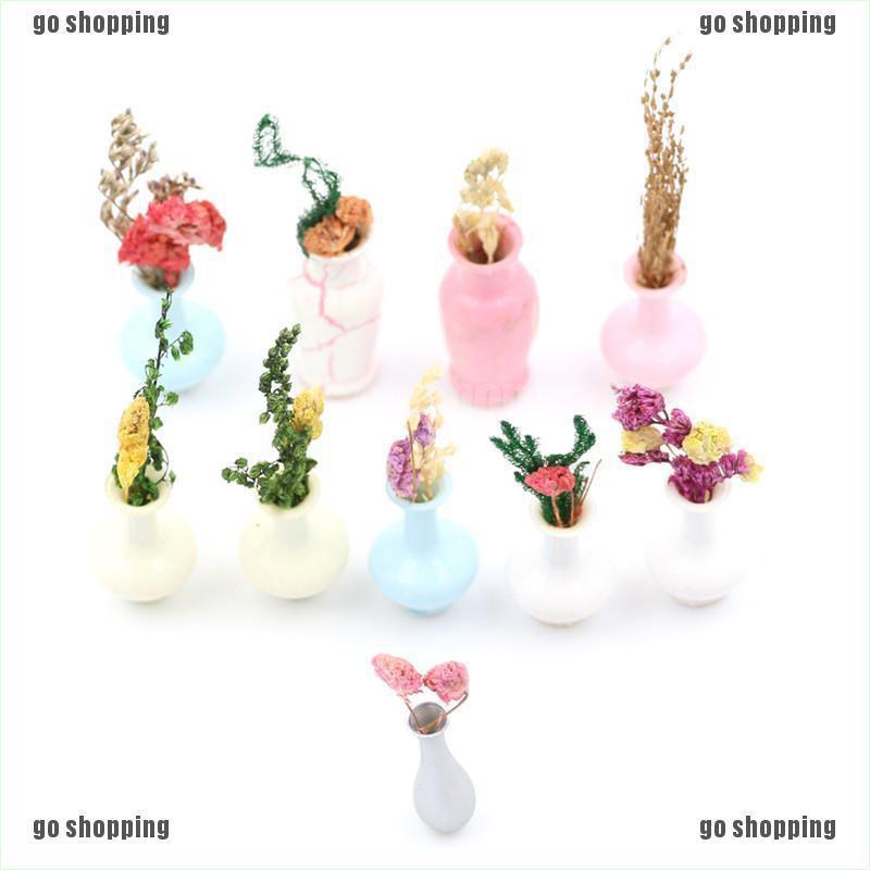 {go shopping}Mini Vase Miniature landscape Sand table model Dollhouse Decor Kids Toy