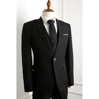 Bộ vest màu đen đột chỉ cao cấp full size