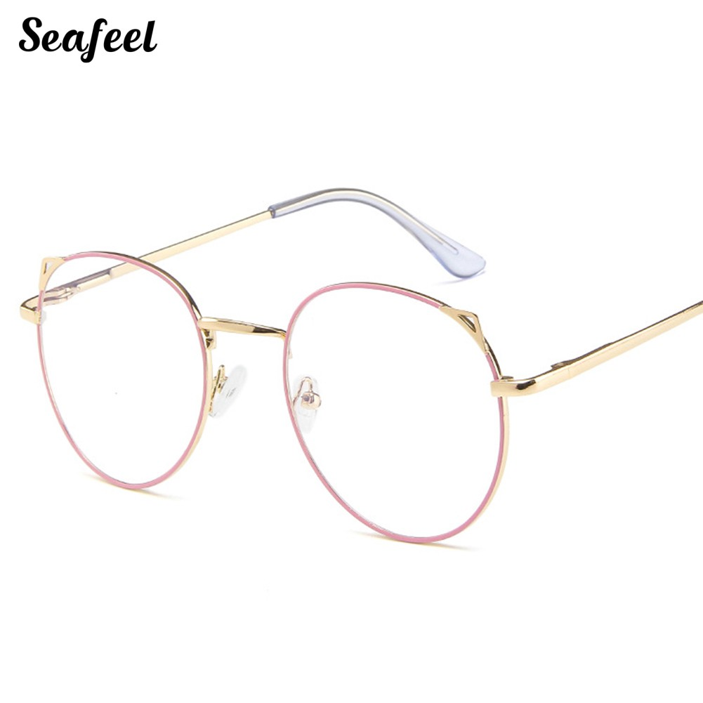 Seafeel 🎀Vintage Student Round Anti-Radiation Optical Spectacles Glasses