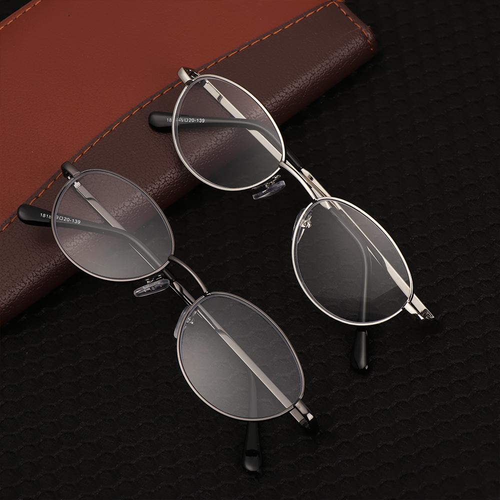 🌱EUPUS🍀 Metal Half Moon Ultra Light Resin +1.00~+4.0 Diopter Eyeglasses Reading Glasses