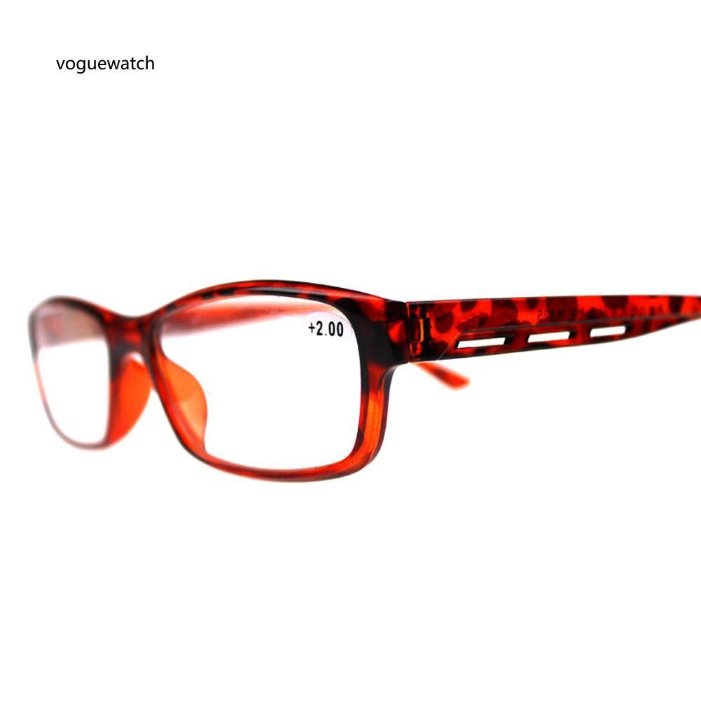 VGWT_Retro Unisex Resin Frame Ultra-light Presbyopia Reading Glasses for Aged People
