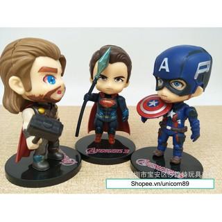 Nhân vật mô hình Avenger: spider man, iron man, captain america, thor, super man