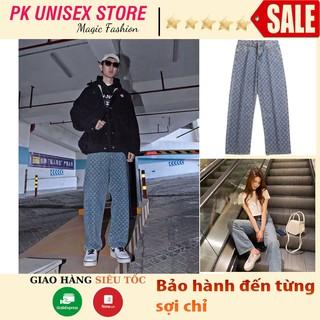 💥SIÊU HOT💥Quần Jeans LV Ống Đứng In Họa Tiết Phong Cách Hàn Quốc Size XS-2Xl Cho Nam Quần Bò lv Quần lv Ống Rộng