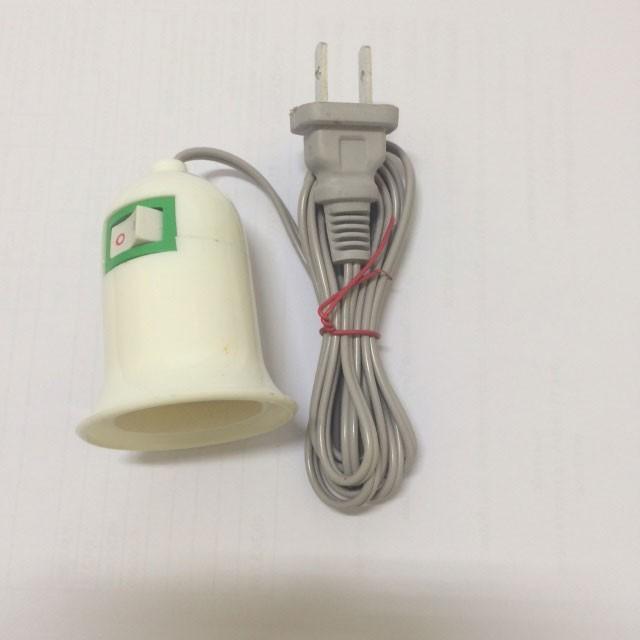 [SALE 10%] Đui đèn E27 có công tắc, phích cắm