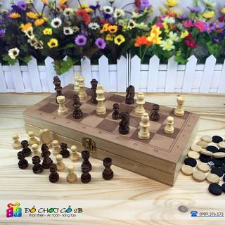 Bộ cờ vua gỗ 2 trong 1