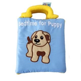 """[Nhập TOYHAPPY Giảm 10%] FREESHIP ĐƠN 99K_Sách vải """"bedtime for puppy"""""""