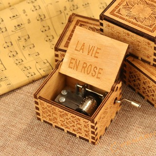 Ancient Wood Vintage Hand Cranked Musical Box