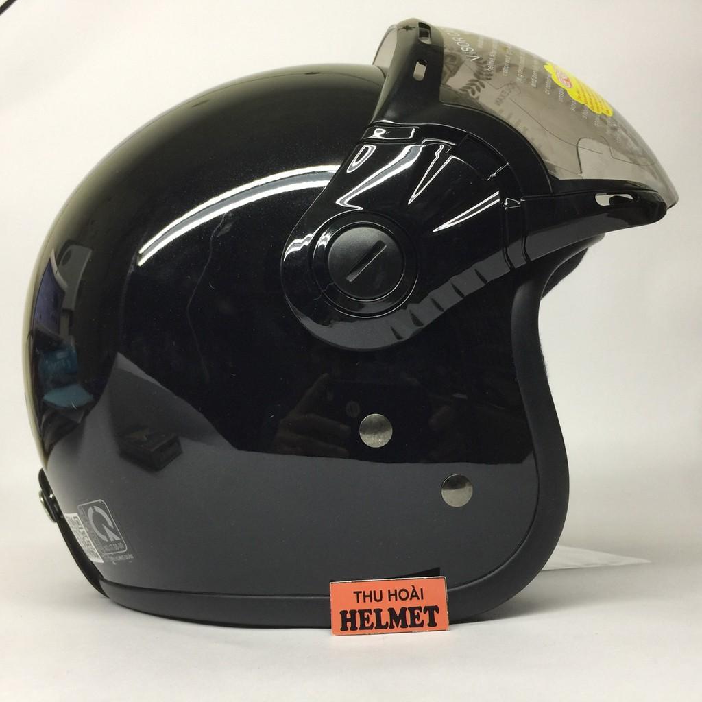 Mũ bảo hiểm GRS A368K đen bóng