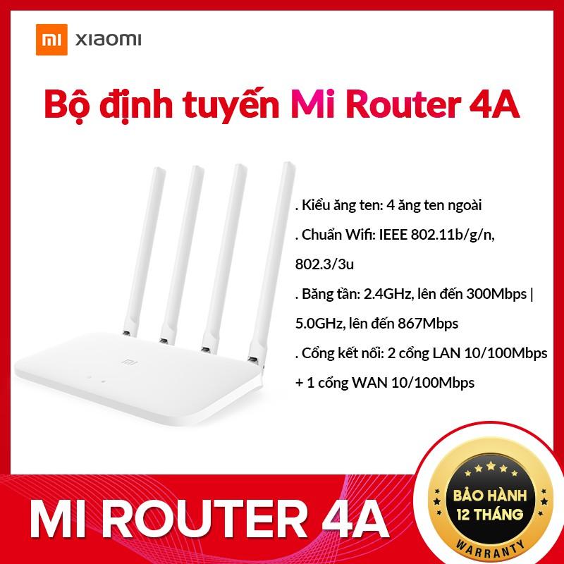 Bộ định tuyến Xiaomi Mi Router 4A - Hàng Chính Hãng - Bảo Hành 2 Năm