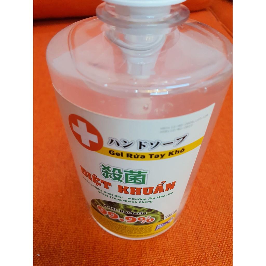 Nước rửa tay khô diệt khuẩn an toàn Mr. Fresh 500ml Hương Xả (dạng gel)