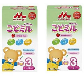 Sữa Morinaga số 3 Hương dâu vani Kodomil hộp giấy 216g thumbnail