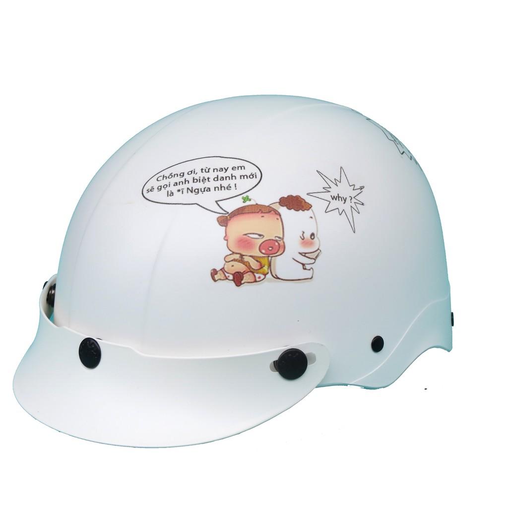 Mũ bảo hiểm NTMAX cao cấp 1/2 Trumb họa tiết siêu cute