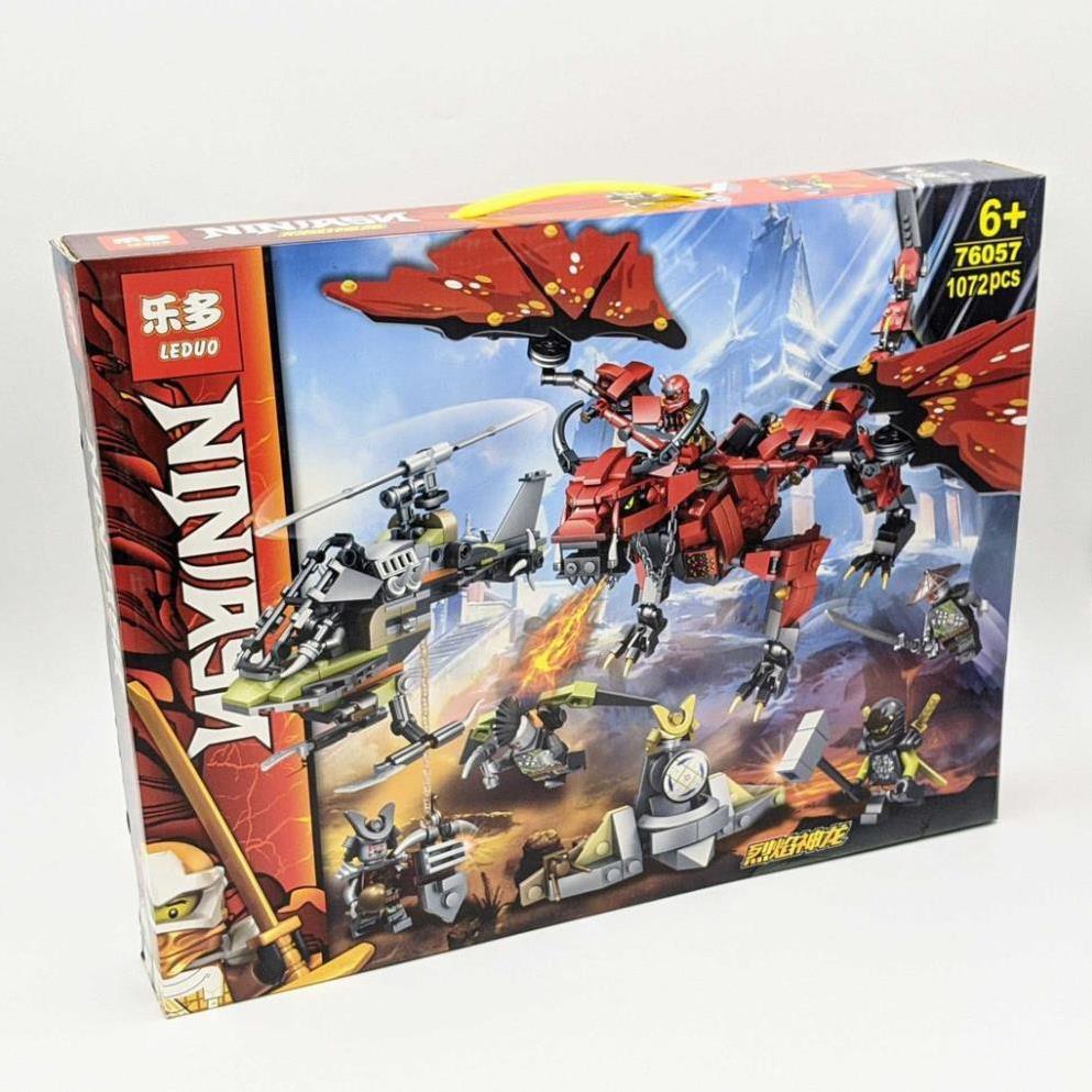 [Sale Sập Sàn] NINJAGO_Lego Ninja Đại Chiến Rồng Phun Lửa và Máy Bay Chiến Đấu (1072 miếng)