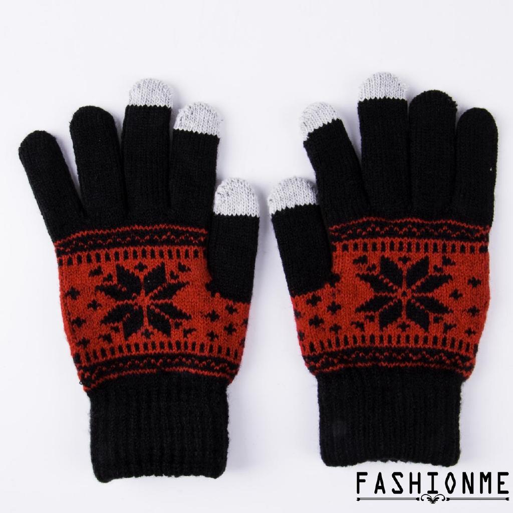 ღ𝓂ℰWarm Touch Screen Gloves Soft Wool Winter Gloves women men gloves