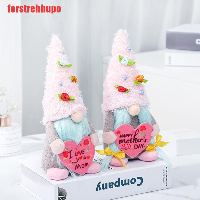 {forstrehhupo}Mothers Day 8.66in LOVE MOM Faceless Doll Gnome Holding Heart Plush Doll Home UUT