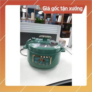 NỒI ÁP SUẤT ĐA NĂNG AUX AX – D301 hầm hấp chiên xào nấu cháo 3L màu xanh