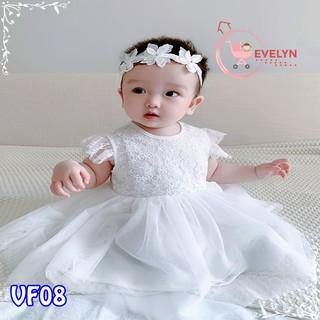 Đầm công chúa Evelyn Mã VF08 thời trang cho bé gái 0-9 tuổi mặc dự tiệc sinh nhật