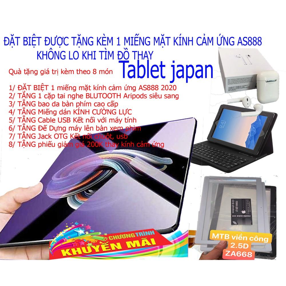 Tablet Nhật Bản AS888 phiên bản 2020 Tặng kèm 1 mặt kính màn hình cảm ứng As888
