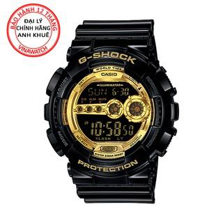 Đồng hồ Nam G-Shock Casio dây nhựa kim-điện tử GD-100GB-1DR - Chính hãng Casio Anh Khuê thumbnail